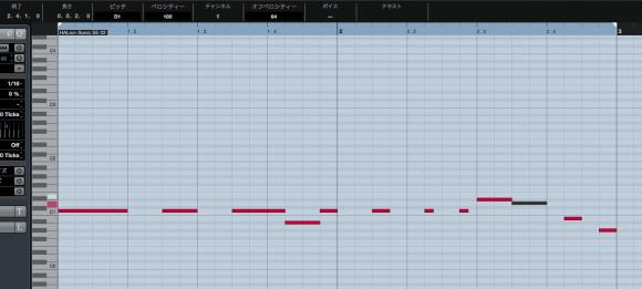 MIDIノート入力例1