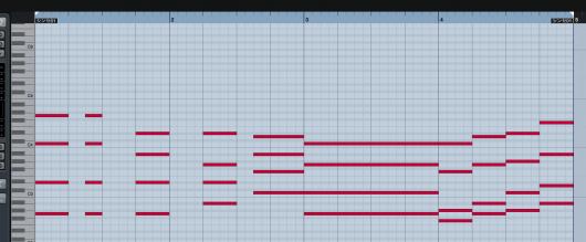 MIDIイベント入力例